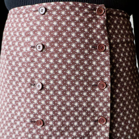 Small Pattern Flared Skirt BR