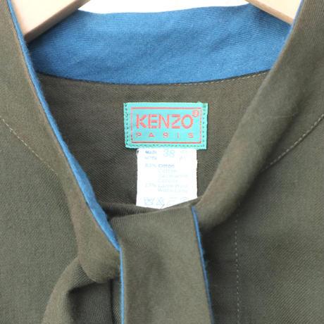 KENZO Boe Tie Bicolor Blouse GRBL