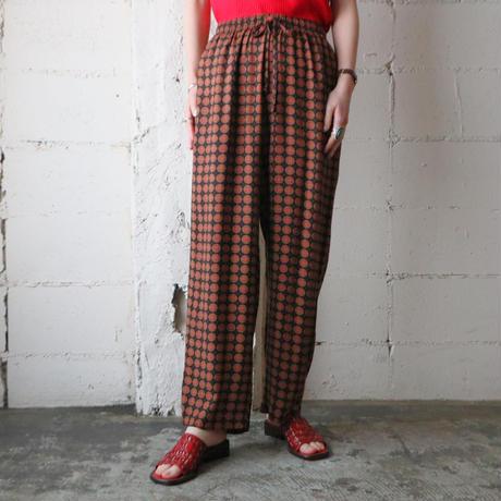 Small Pattern Easy Pants BK
