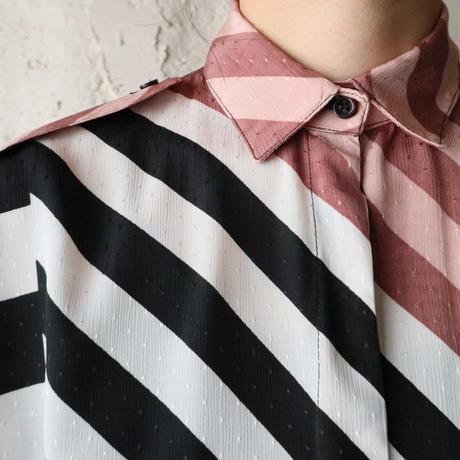 Two tone Stripe Blouse BRBK