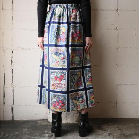 Food Motif Flared Skirt NV WH