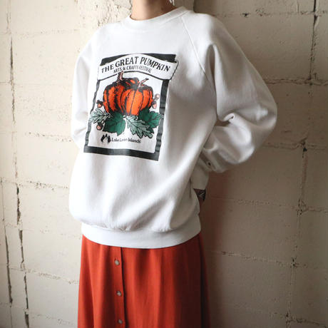 ''THE GREAT PUMPKIN'' Print Sweat WH
