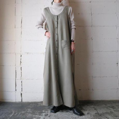 Front Button Long Dress KA