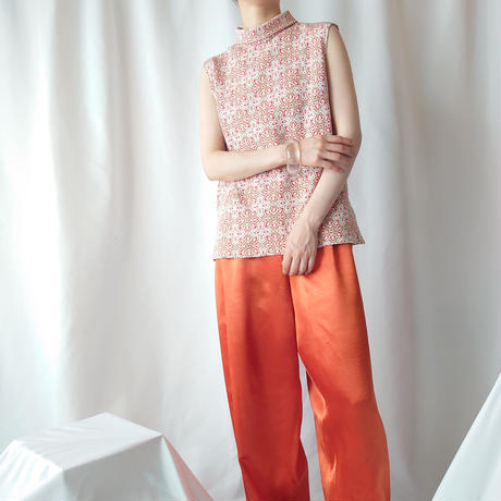 70's Arabesque Pattern Sleeveless Tops ORWH