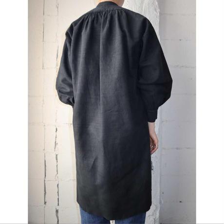 Antique Linen Long Shirt BK