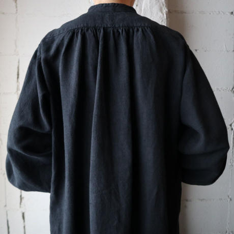 Antique Linen Long Shirt BK