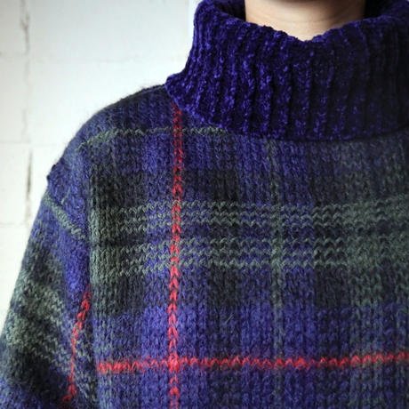 Turtleneck Mohiar Check Sweater NV