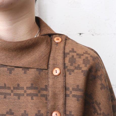 Side Button Pattern Blouse BR