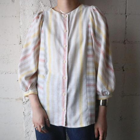 Volume Sleeve Stripe Blouse IVYE