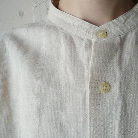 Band Collar Short Sleeve Shirt BE