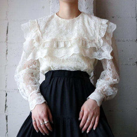 Vintage Flower Lace Blouse IV