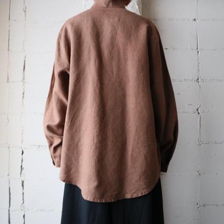 Stand Collar Linen Shirt BR