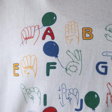 Sign Language Print Tee WH