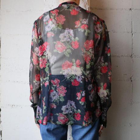 Lauren Flower Pattern Blouse BKRE