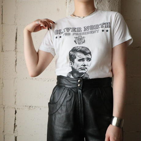 OLIVER NORTH Print T Shirt WH