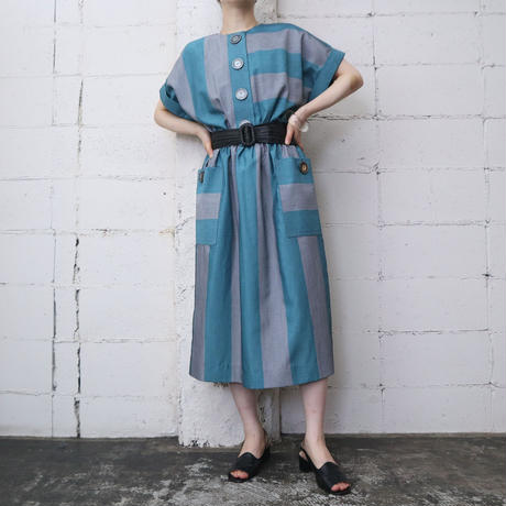 80's Vintage Stripe Dress GRGR