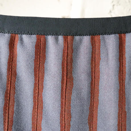 Stripe Pleated Skirt GROR