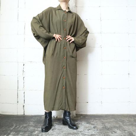 Dolman Sleeve Front Button Dress KA