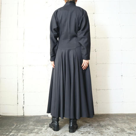 Shawl Collar Double Breasted Dress BK