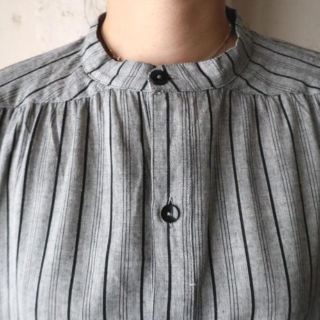 Stripe Short Sleeve Blouse GRBK