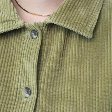 Wide Silhouette Corduroy Short Shirt LGR