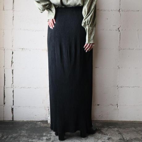 ISSEY MIYAKE Pleated Tight Skirt BK