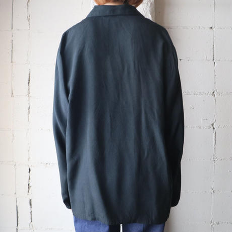Asymmetric Design Silk Blouse BK