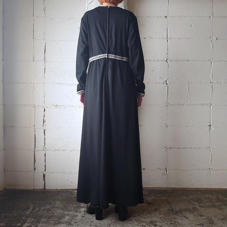 60~70's Vintage Dress BK