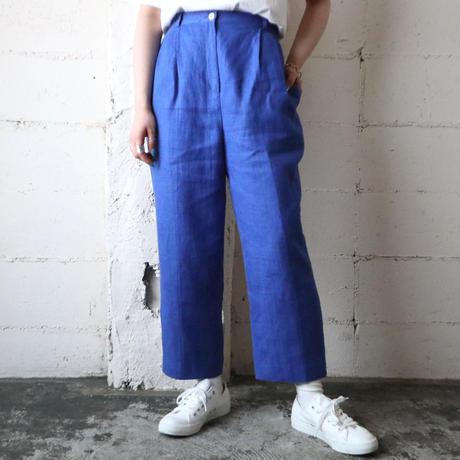Linen Basic Tuck Pants BL