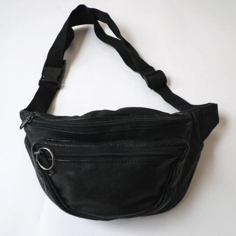 Real Leather Belt Bag BK