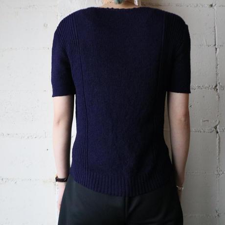 Vneck Many Button Design Knit NV