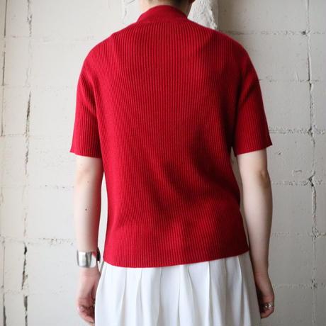 Mock Neck Rib Knit RE