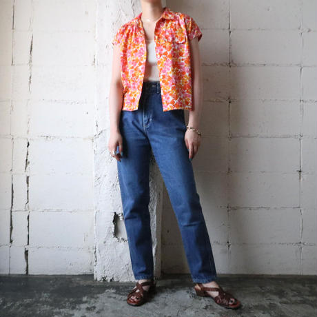 Flower Pattern Short Sleeve Shirt ORPI