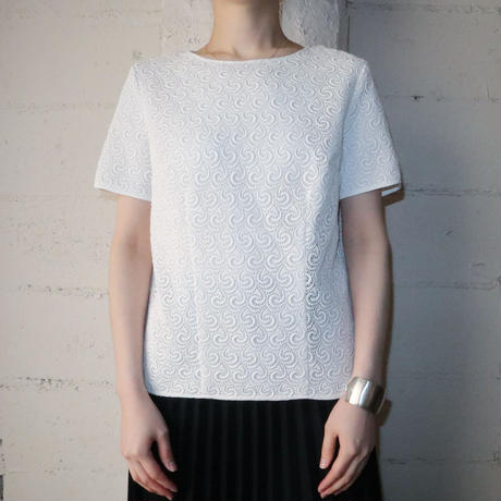 1960~70's EURO Short Sleeve Lace Blouse HW