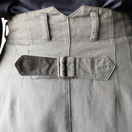 Back Belt Flared Skirt KA