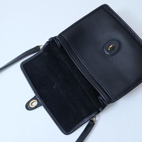 Old COACH 2WAY Leather Shoulder Bag BK