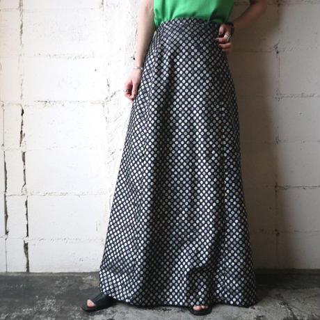 Shiny Dot Pattern Flared Skirt SIBK
