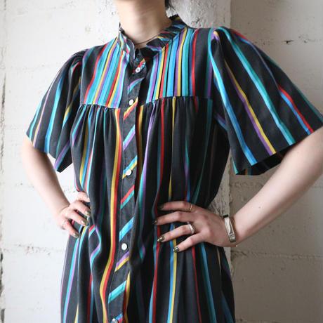 Multi Color Stripe Dress BKREYE
