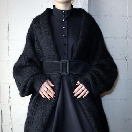 Volume Sleeve Mohair Knit Robe BK
