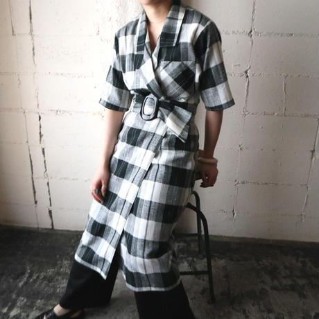 Check Tight Dress BKWH