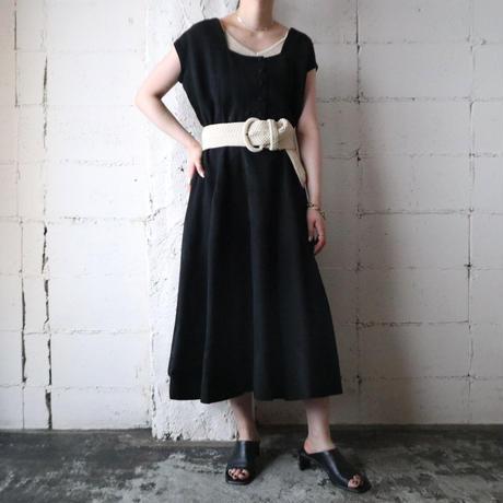 1950~60's Vintage French Sleeve Dress BK
