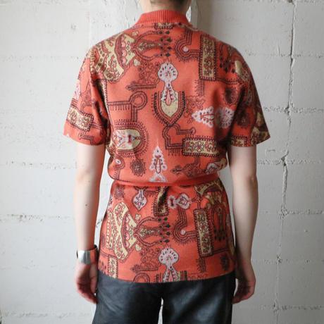 Short Sleeve Pattern Knit OR
