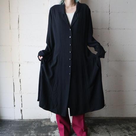 FLAX Rayon Light Coat BK