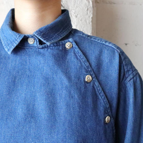 Side Open Denim Shirt BL