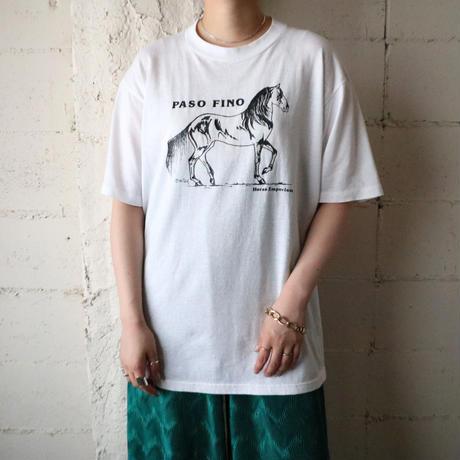 Horse Print Tee WH