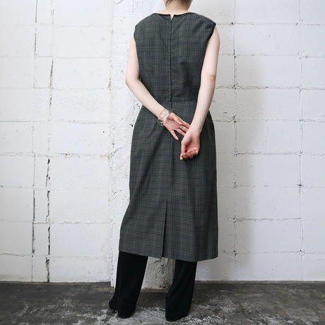 60's Sleeveless Check Dress KABK