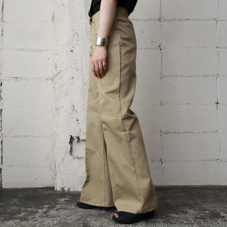 70's Design Pocket Flared Pants BE