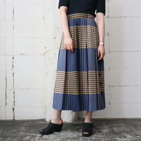 Check Pleated Skirt YEBL