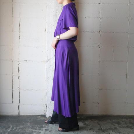 Open Collar Dress PUR