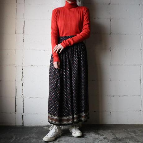 Small Pattern Easy Flard Skirt NV